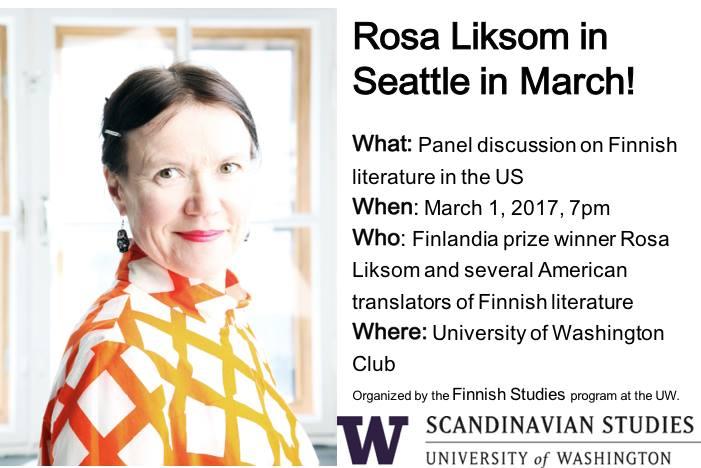 Panel Discussion on Finnish Literature in the US @ The University of Washington Club | Seattle | Washington | United States